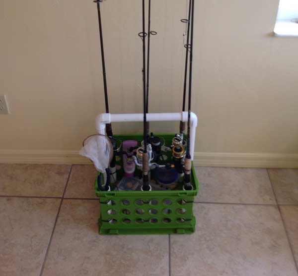fishing pole caddy