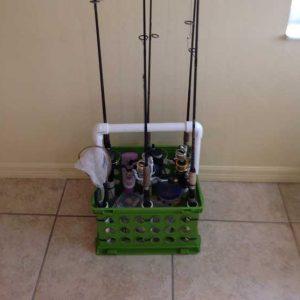 fishing pole caddy